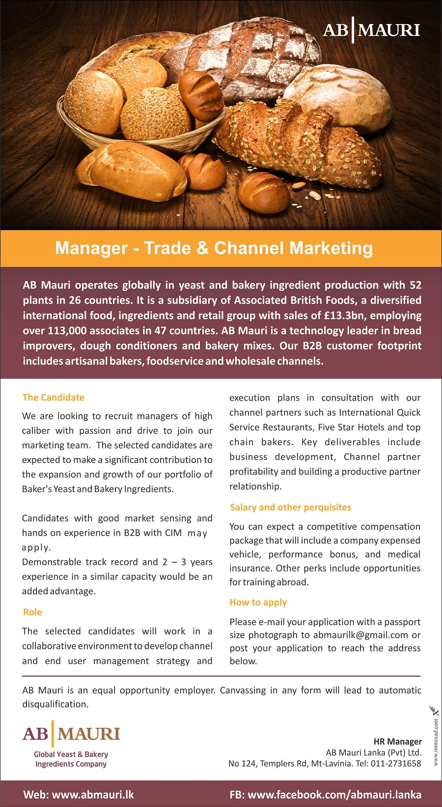 Manager Trade & Channel Marketing