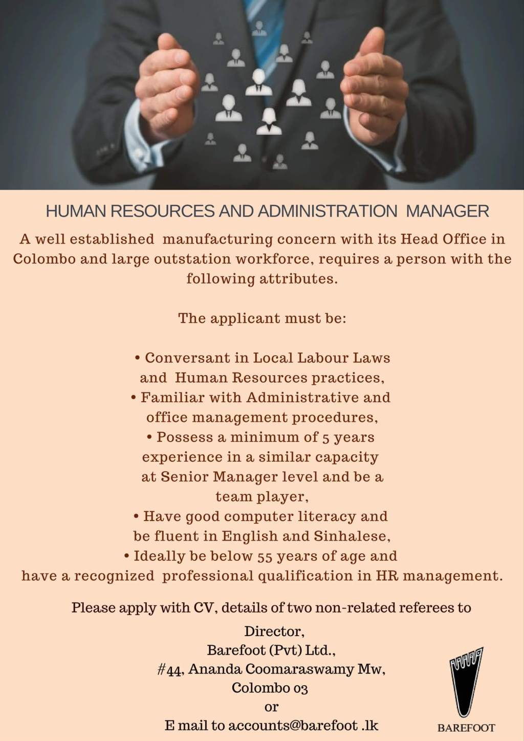 HR and Administration Manager